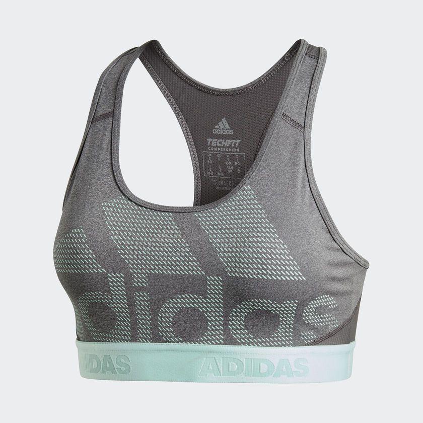 Sujetador Don't Rest Alphaskin Gris adidas | adidas España