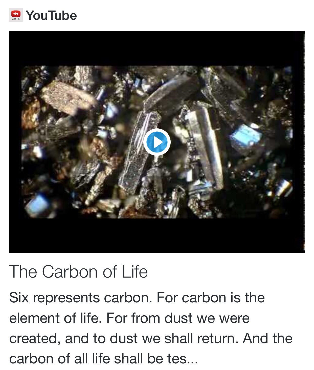 The Carbon of Life from Math and Numbers of the Prophecy http://www.andrewtheprophet.com/11022/136931.html