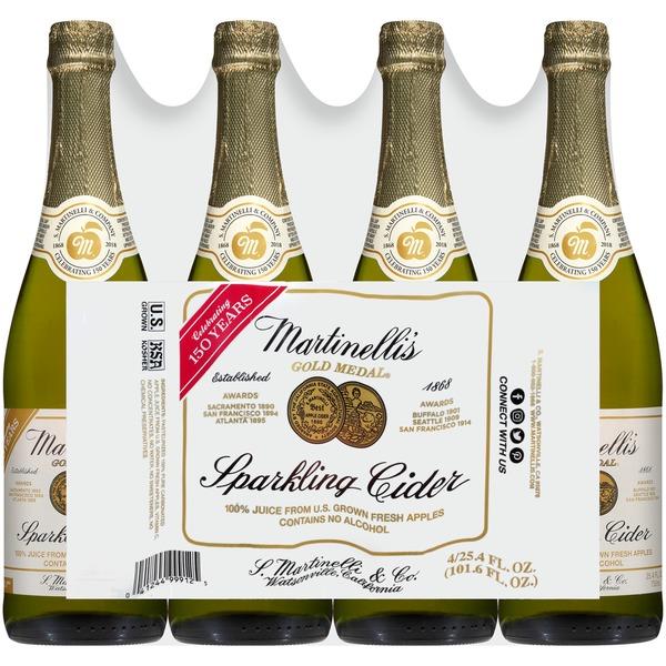Martinellis Gold Medal Sparkling Martinelli Gold Medal Sparkling Cider  Instacartcider