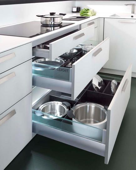Kitchen Lighting South Africa: Illuminated Pot And Pan Drawers