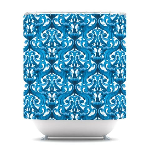 "Aimee St. Hill ""Intertwined Blue"" Shower Curtain 
