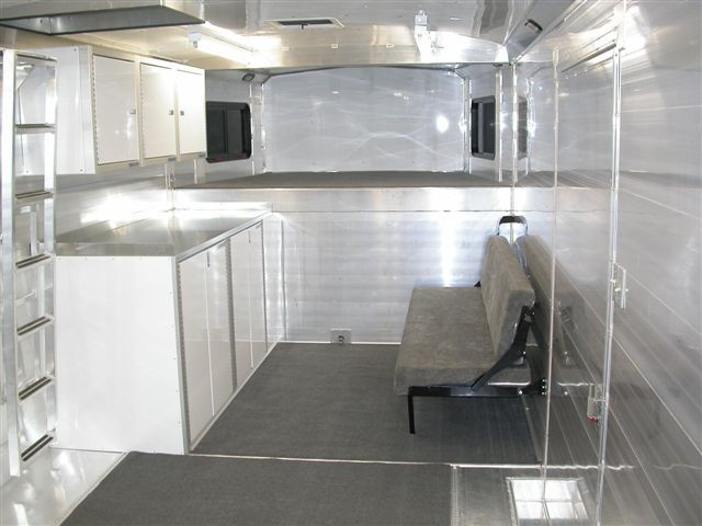 Folding Bed And Couch Inside Trailer Folding Beds Roll