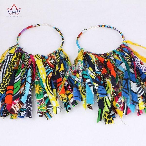 Big Hoop Earring Oversized Earrings African Cloth