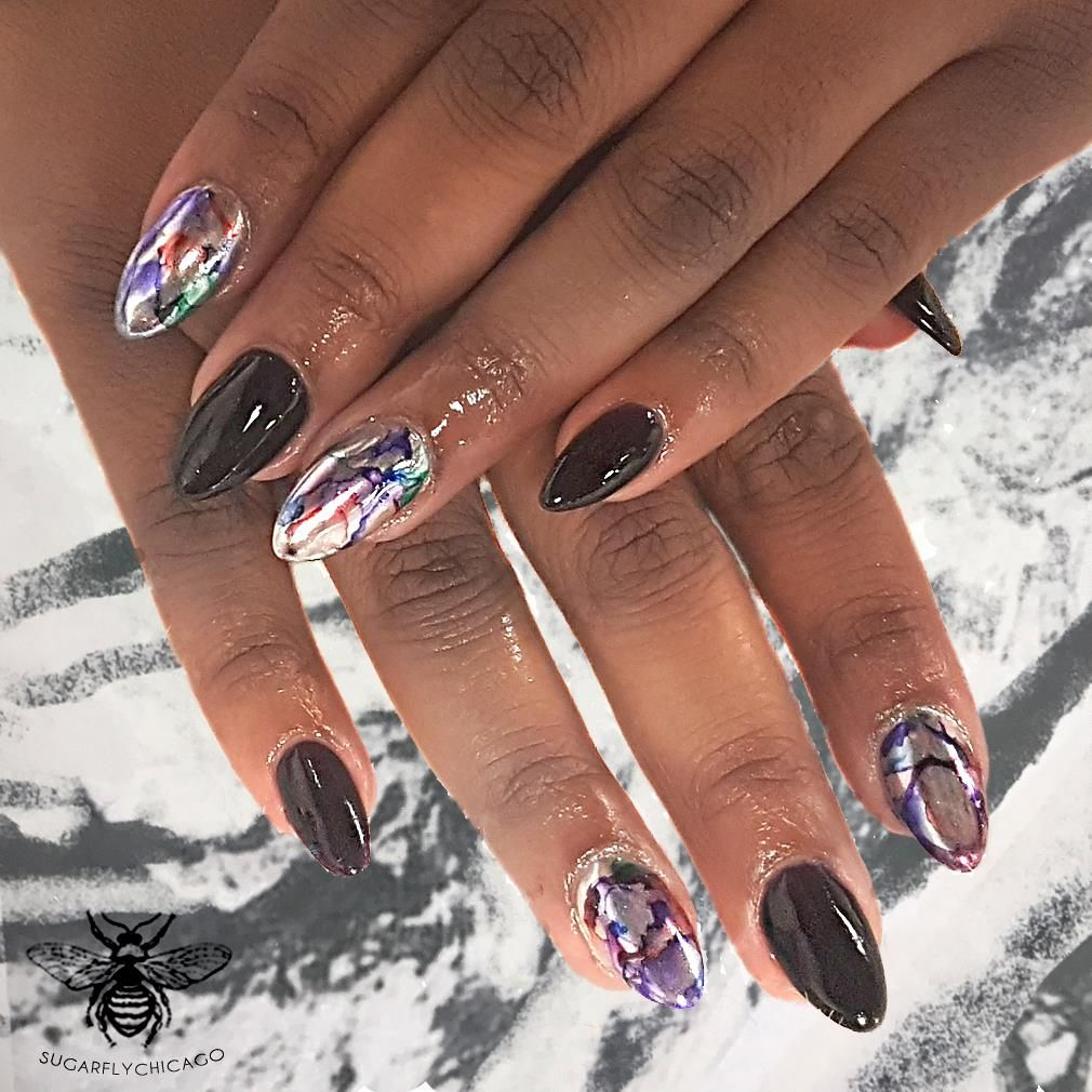 Oil Spill Nails | We <3 Nails | Pinterest | Natural hair removal ...
