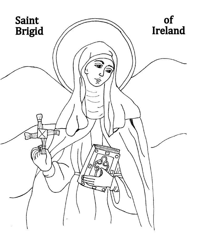 St Brigid Coloring Sheet Brigid Of Ireland St Brigid St