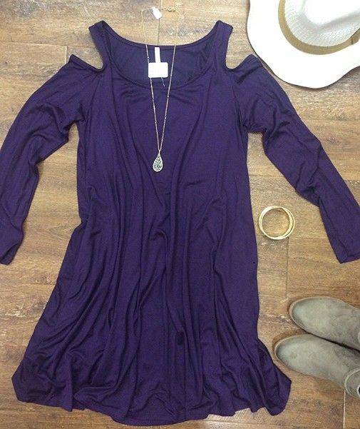 Calling all 💜P U R P L E 💜 lovers!! Come get it before it's gone!  #xoxoAL4You #shopALB #coldshoulder #booties #fallfashion #fashionista