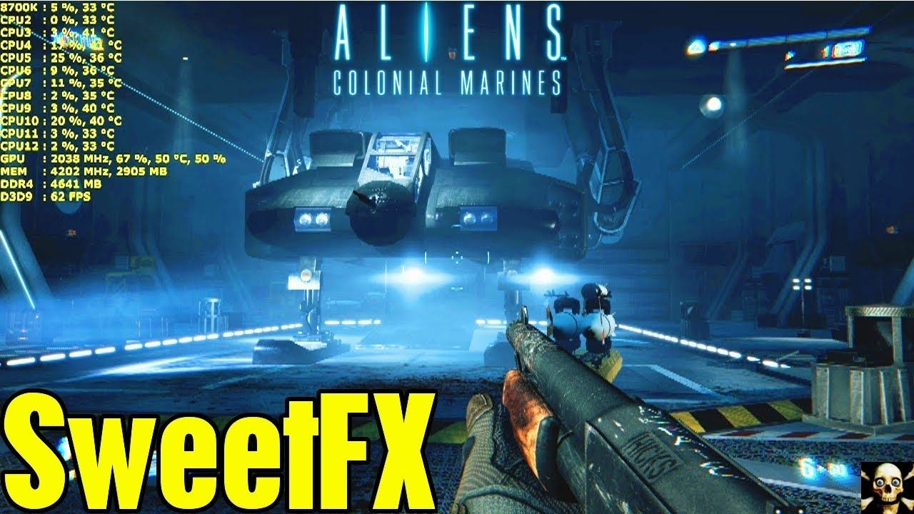 Aliens Colonial Marines SweetFX/ReShade Graphic Mod Before