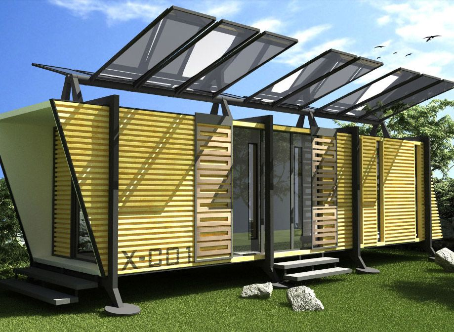 Futuristic modern shipping container house design with - Simple container house plans ...