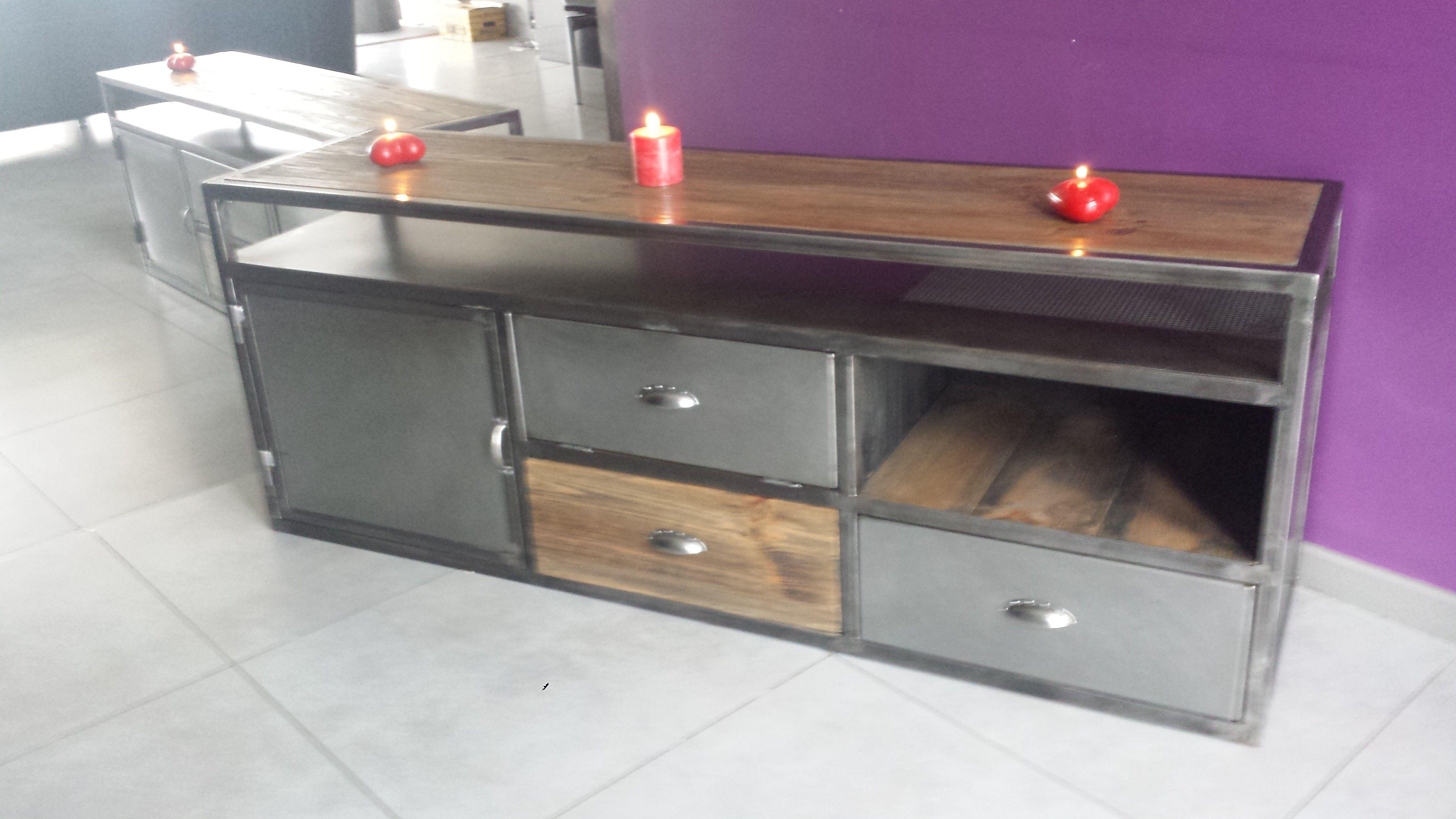 Pingl par djamel mahour sur mobilier pinterest style - Renover un meuble industriel ...