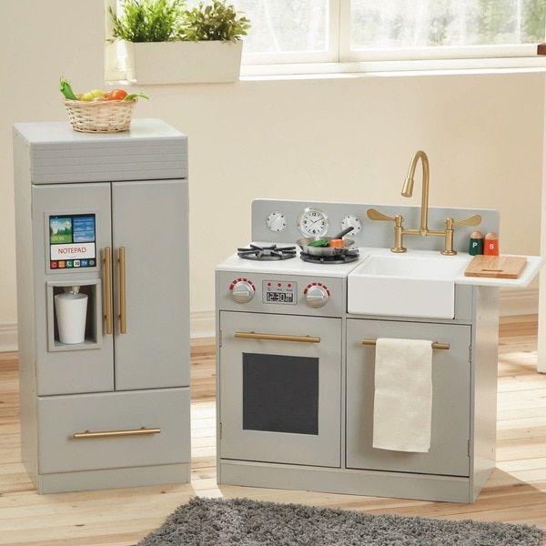 Teamson Kids Urban Adventure Grey Play Kitchen in Grey | Baby Suggs ...
