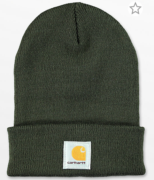 67992bf3ebc73 Carhartt Watch Dark Green Beanie from video