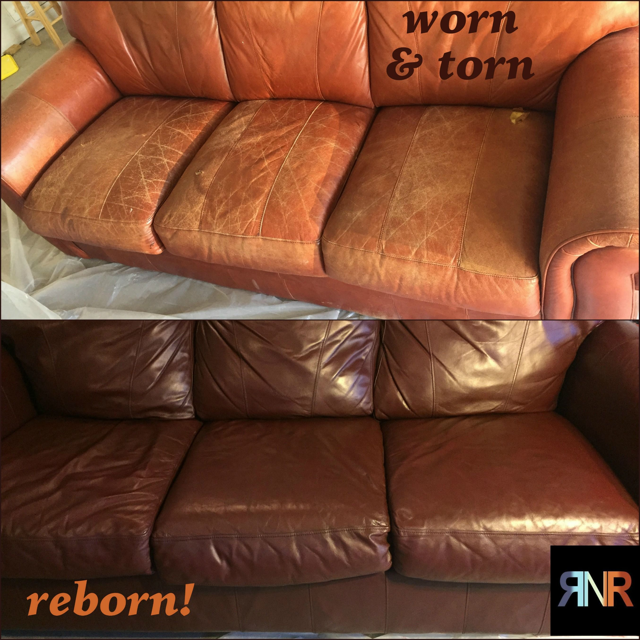 Mahogany Vinyl Leather Finish Leather Couch Decorating