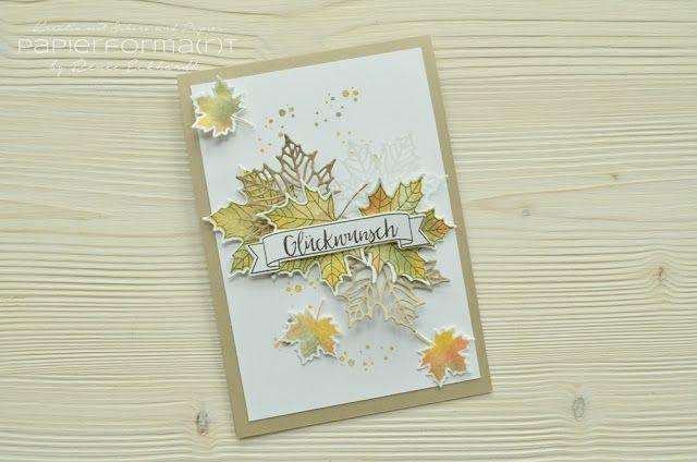Herbstliche Geburtstagskarte (Papierforma(r)t) | Karten, Farben und ...