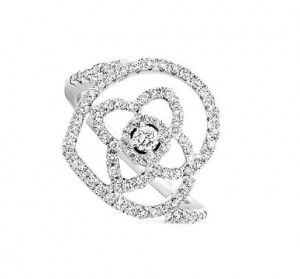 De Beers diamonds ring that hook Lotus Heart