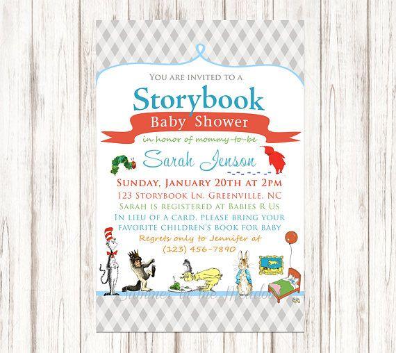 Storybook Baby Shower Invitation Book Invite