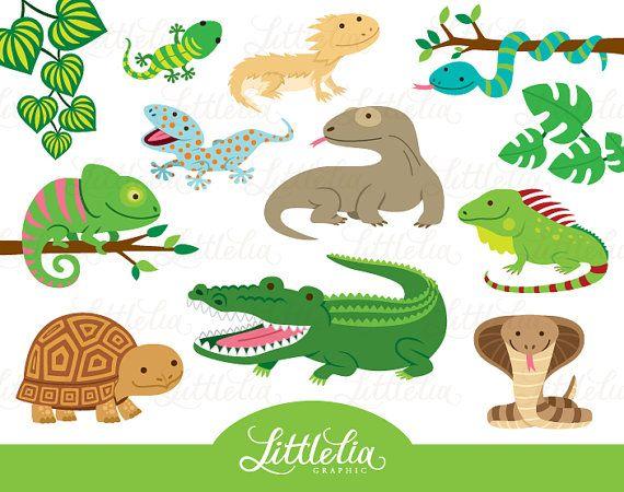 Reptile clipart - reptile cute - 16019 | Reptilien | Pinterest ...