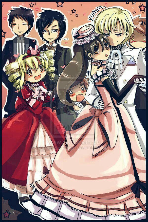 Haruhi, Tamaki, Kyouya, Honey, Mori, Hitachiin twins, brothers