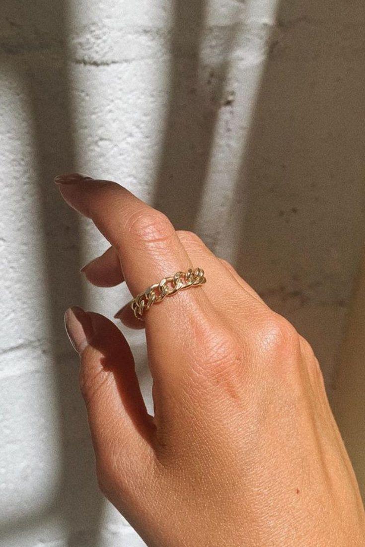 Photo of Bold Chain Ring @alyssablond