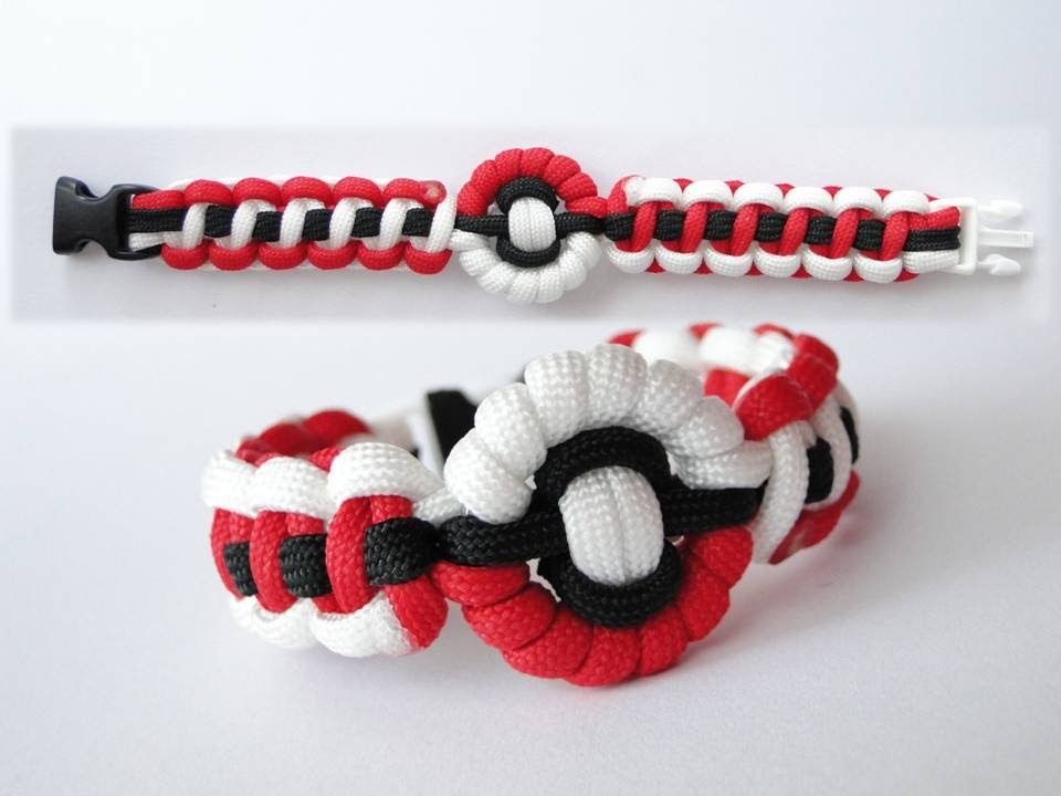 How to make a pokeball pokemon themed paracord bracelet for Paracord stuff to make