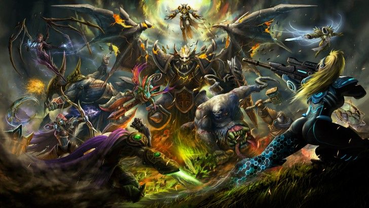 Hots Battle Zeratul Stitches Nova Sylvanas Azmodan Brightwing Uther Kerrigan Tyrael Tassadar By Archlimit 3 Heroes Of The Storm Hero Wallpaper Eye Of The Storm His first appearance was in starcraft where he was a protoss high templar before he sacrificed himself to destroy the overmind. storm hero wallpaper eye of the storm