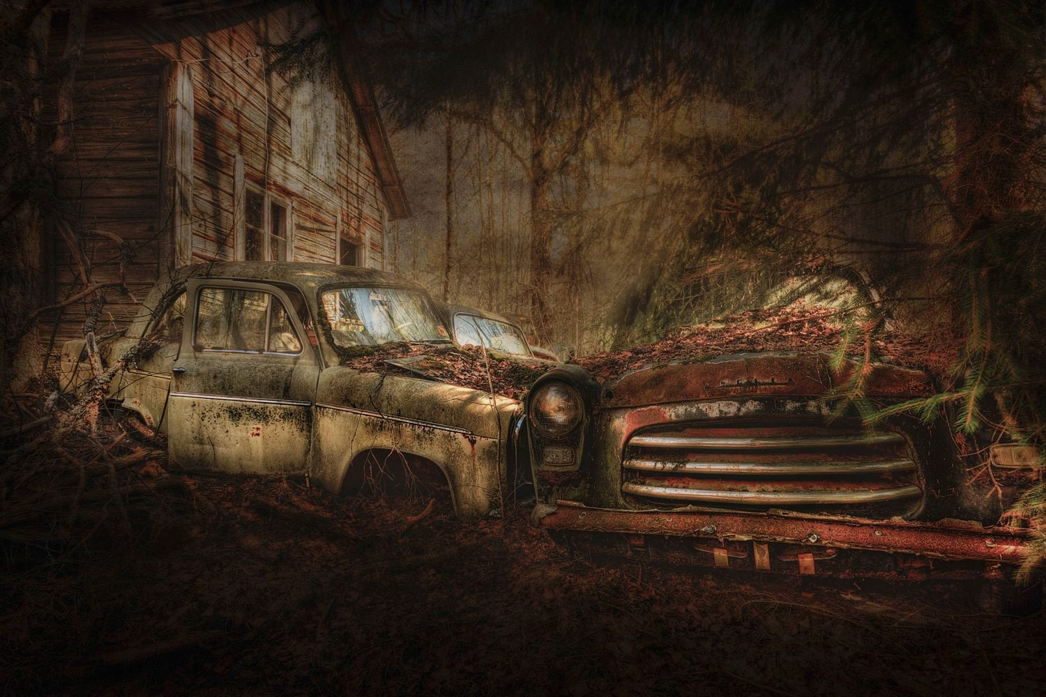 Still Standing by Erik Brede. This limited edition photograph is an expressionist piece relating to a car dump in Sweden. The photograph is printed on aluminium and comes from Erik's collection on FineArtSeen. Click to view more art at great prices from the Home Of Original Art. << Pin For Later >>