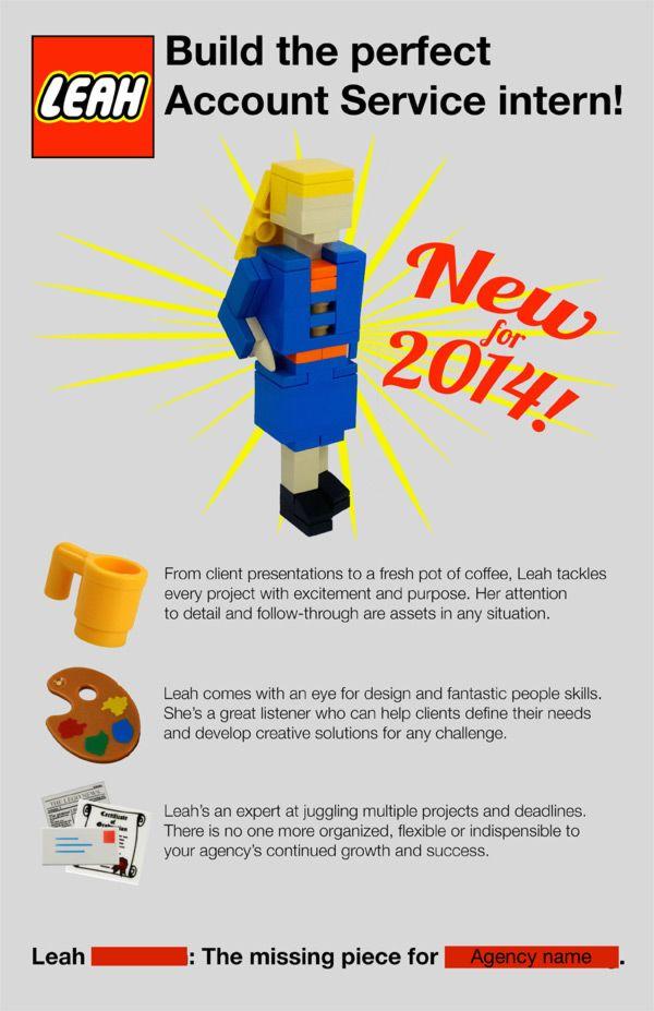 Intern u201cLegosu201d Herself to Land a Job    biginterview blog - fresh blueprint design career