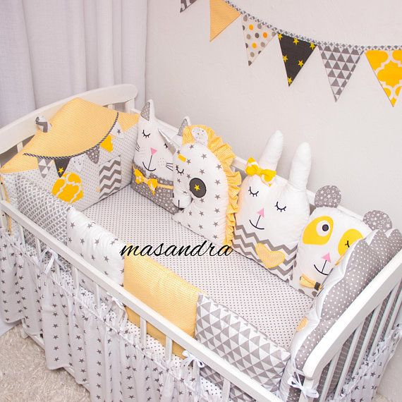 Bed protector bedding set with modular bumper