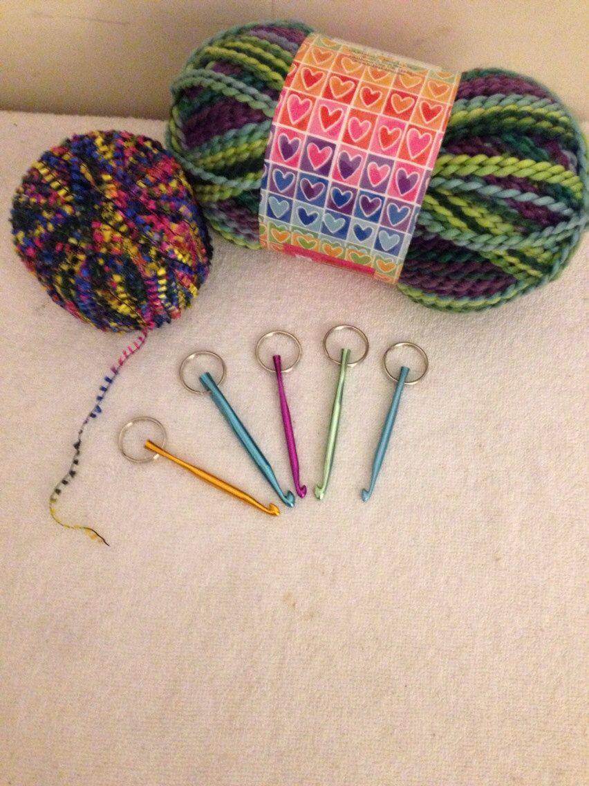 Crochet Hook Key Chain Keychain Crochet Hook By Restlessfingers4