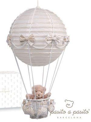 Lampadario mongolfiera beige baby craft ideas for Lampadario carta ikea