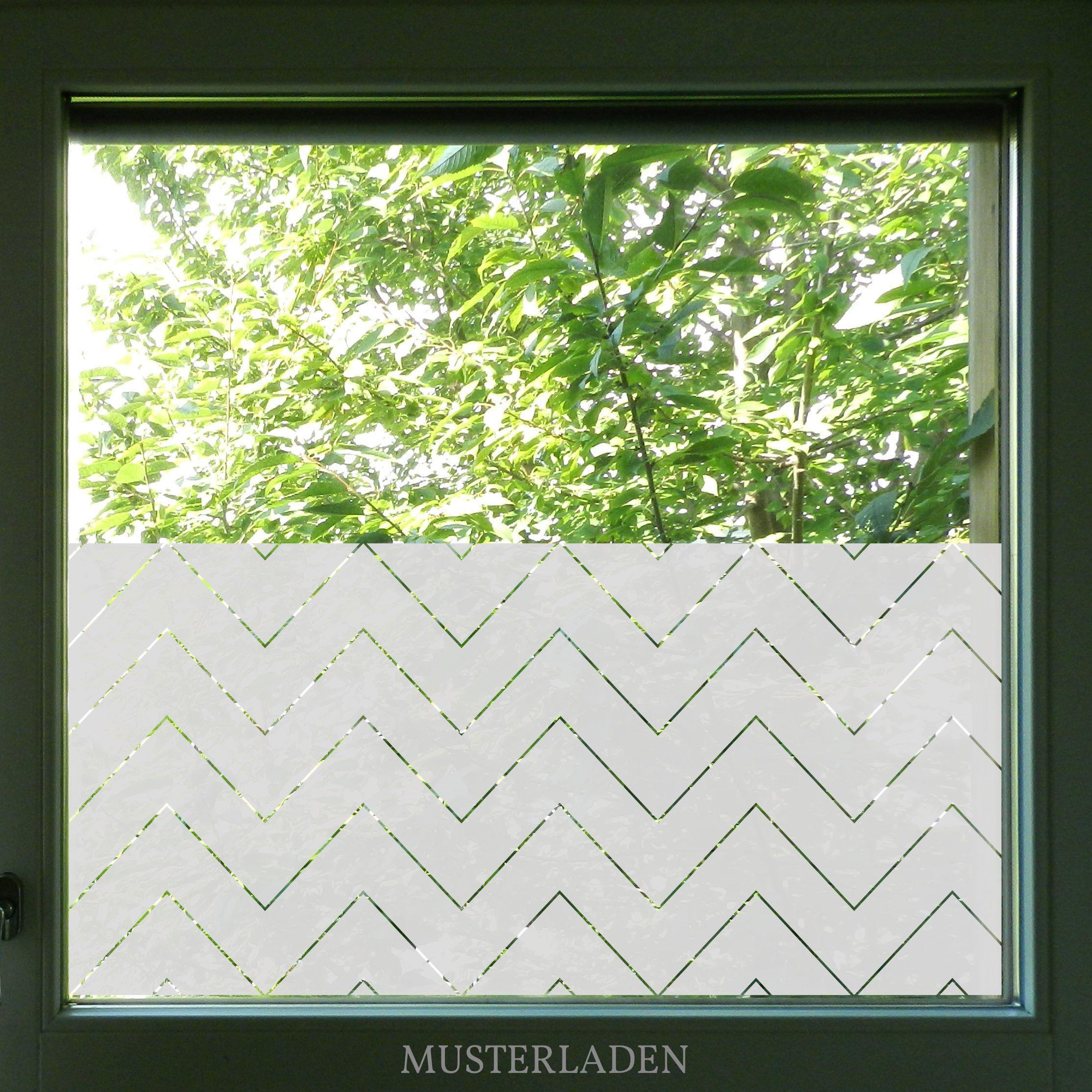 Sichtschutz Klebefolie für Fenster Chevron Zickzack, Badezimmer Bilder