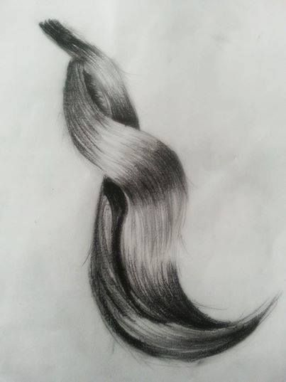 Practicing To Draw A Realistic Hair How To Draw Hair Realistic Drawings Drawings