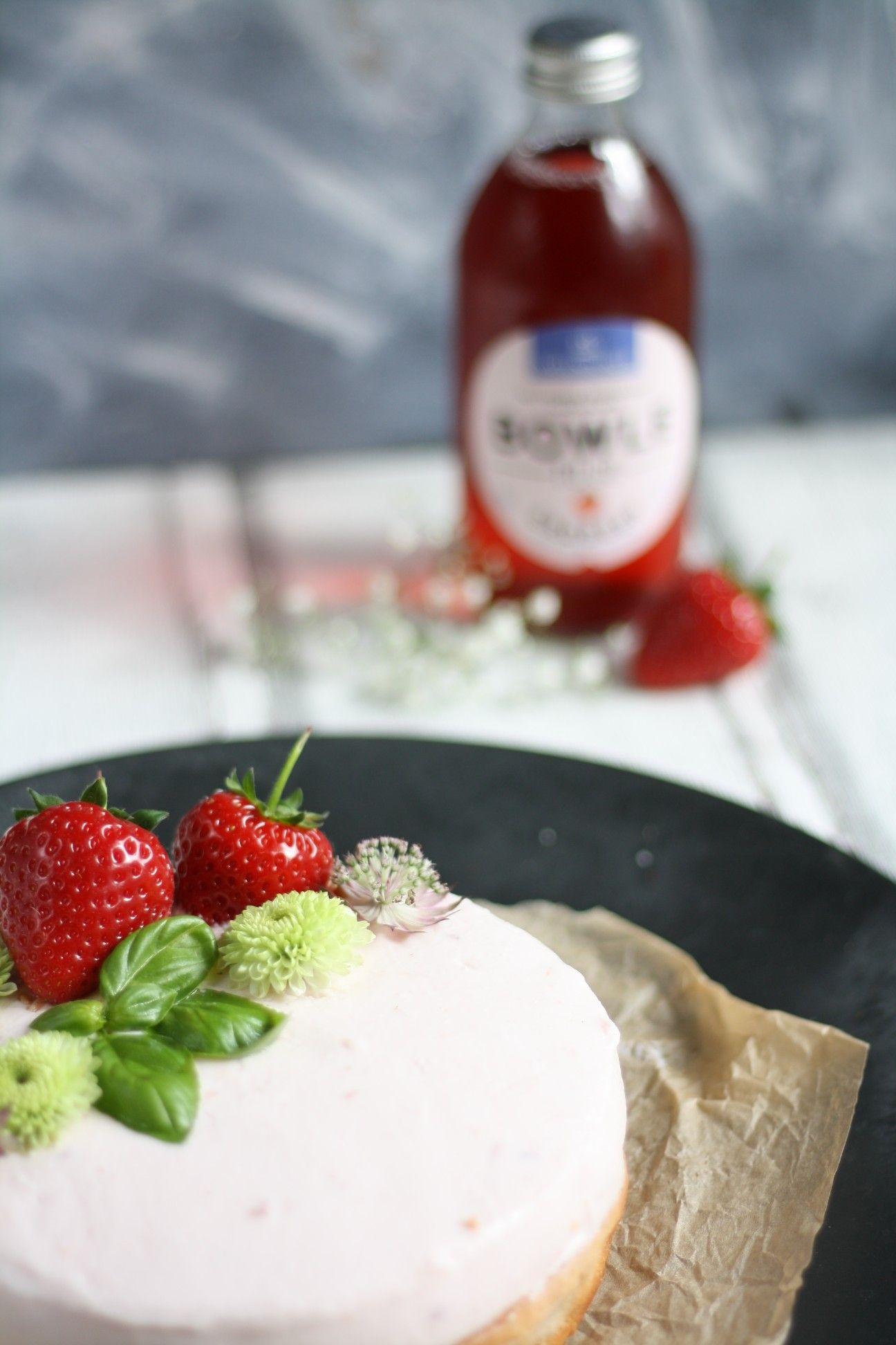 Erdbeerliebe in Form eines Mascarpone #nakedcakes