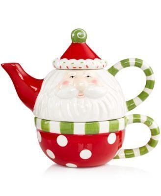 Ganz Holiday Sweet Santa Tea for One   macys.com