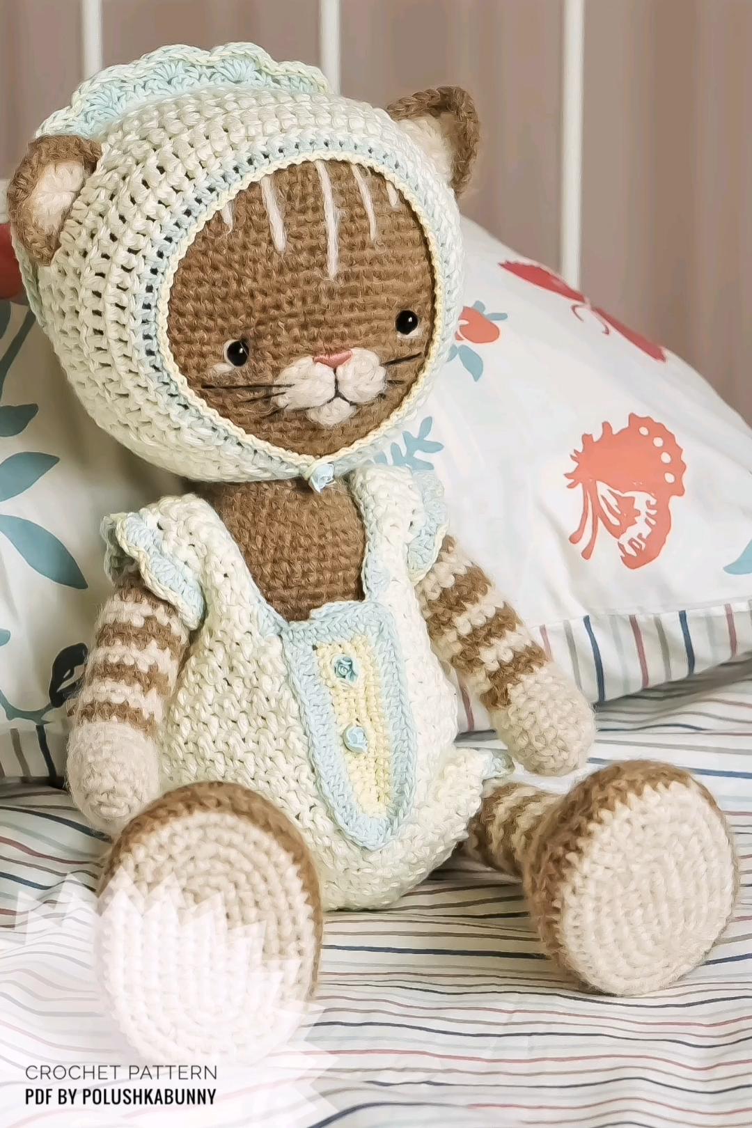 Photo of Crochet Pattern – Onesie for crocheted Cat toy by PolushkaBunny #crochet #cat #outfit #pattern #diy