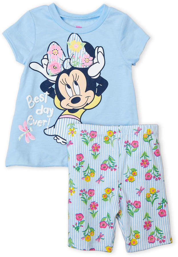 5eaa8985bd Minnie Mouse (Toddler Girls) Two-Piece Best Day Ever Tee & Floral Shorts Set