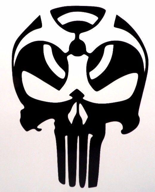 Punisher Skull Biohazard Cool Car Truck Window Vinyl Decal Sticker - Cool vinyl decals