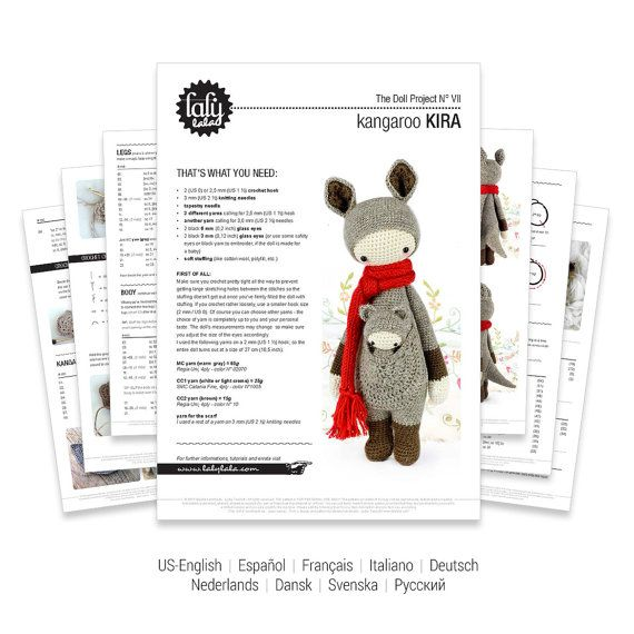 KIRA the kangaroo • lalylala crochet pattern / amigurumi | Mis cosas ...