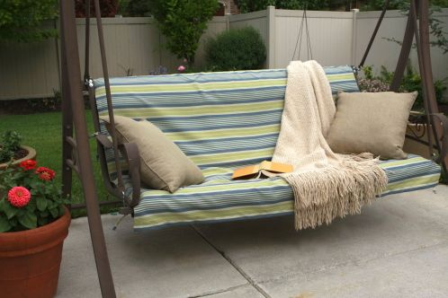 Porch Swing Makeover Porch Swing Cushions Outdoor Swing Cushions Diy Outdoor Cushions