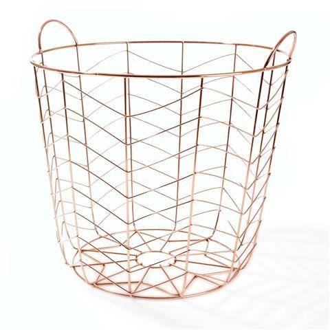 Copper Coloured Basket   Kmart