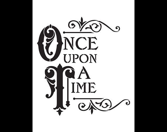 Once Upon A Time Word Art Stencil