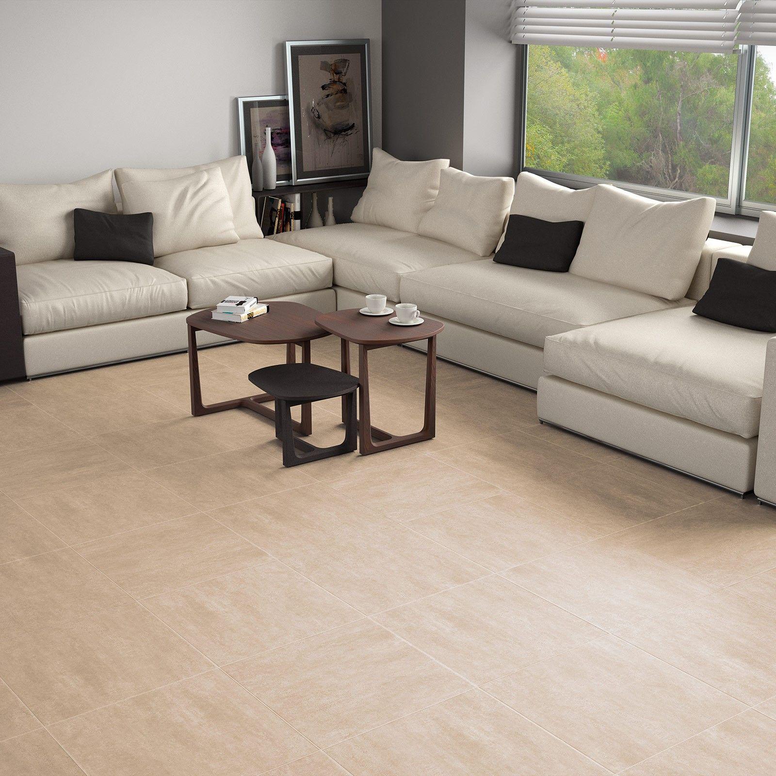 Oregon Beige Floor Tile White Tile Floor White Floors Flooring #white #floor #tiles #in #living #room