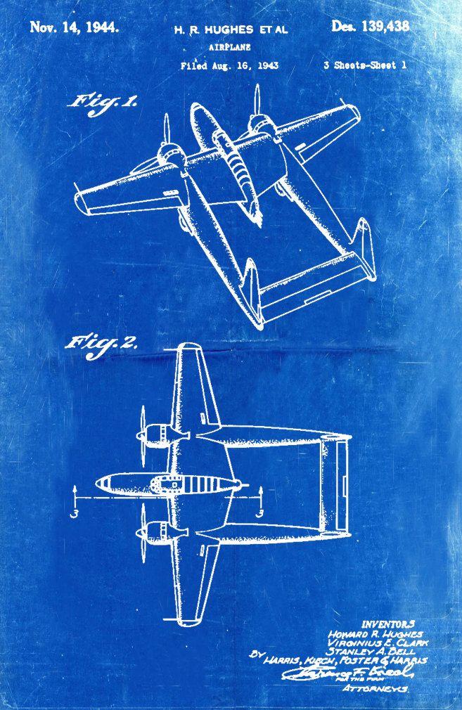 Blueprint art of patent 139438 hughes bigbluecanoe etsy blueprint art malvernweather Choice Image