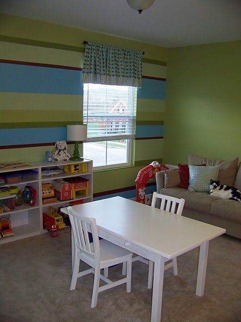 Land Of Nod Table In Kids' Play Room
