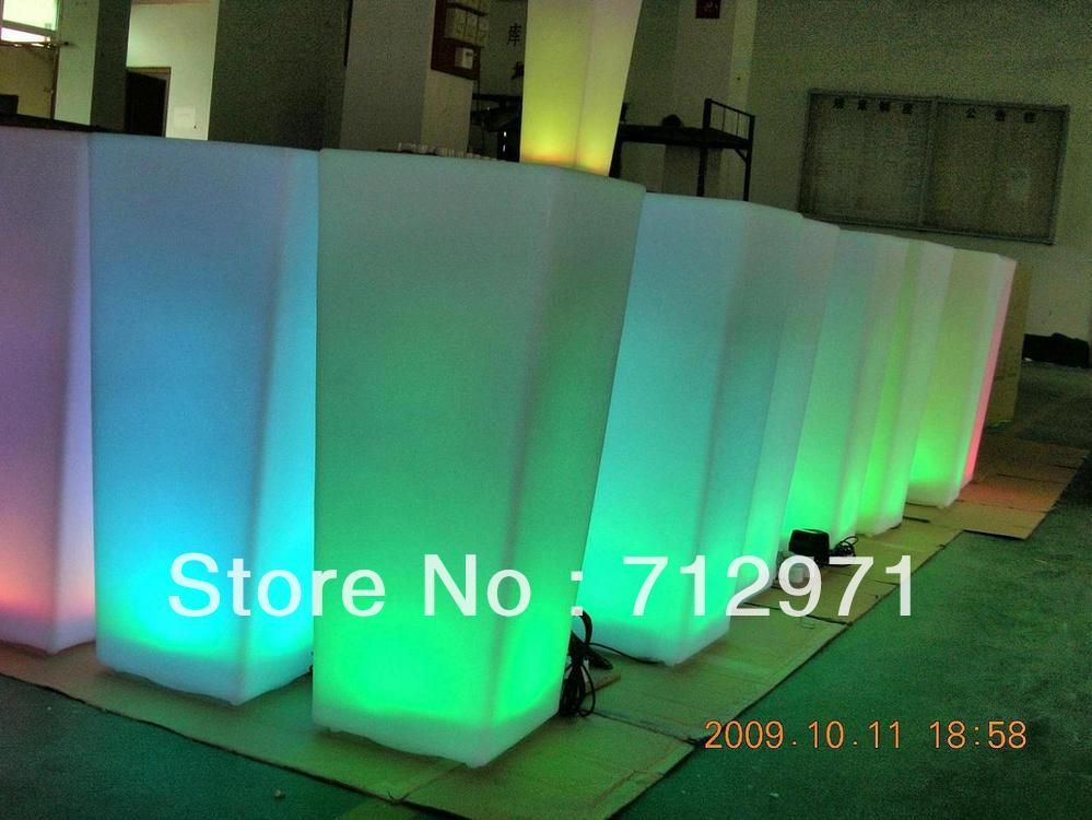 Square Led Pot Light Lit For Out Door For Garden 77cm Heigh Affiliate Led Pot Lights Pot Lights Lamp Shade