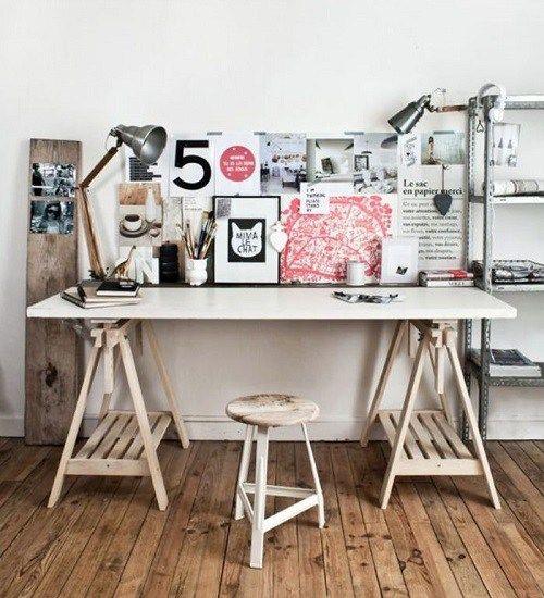 Ideia de escrivaninha com cavalete para o home office ...