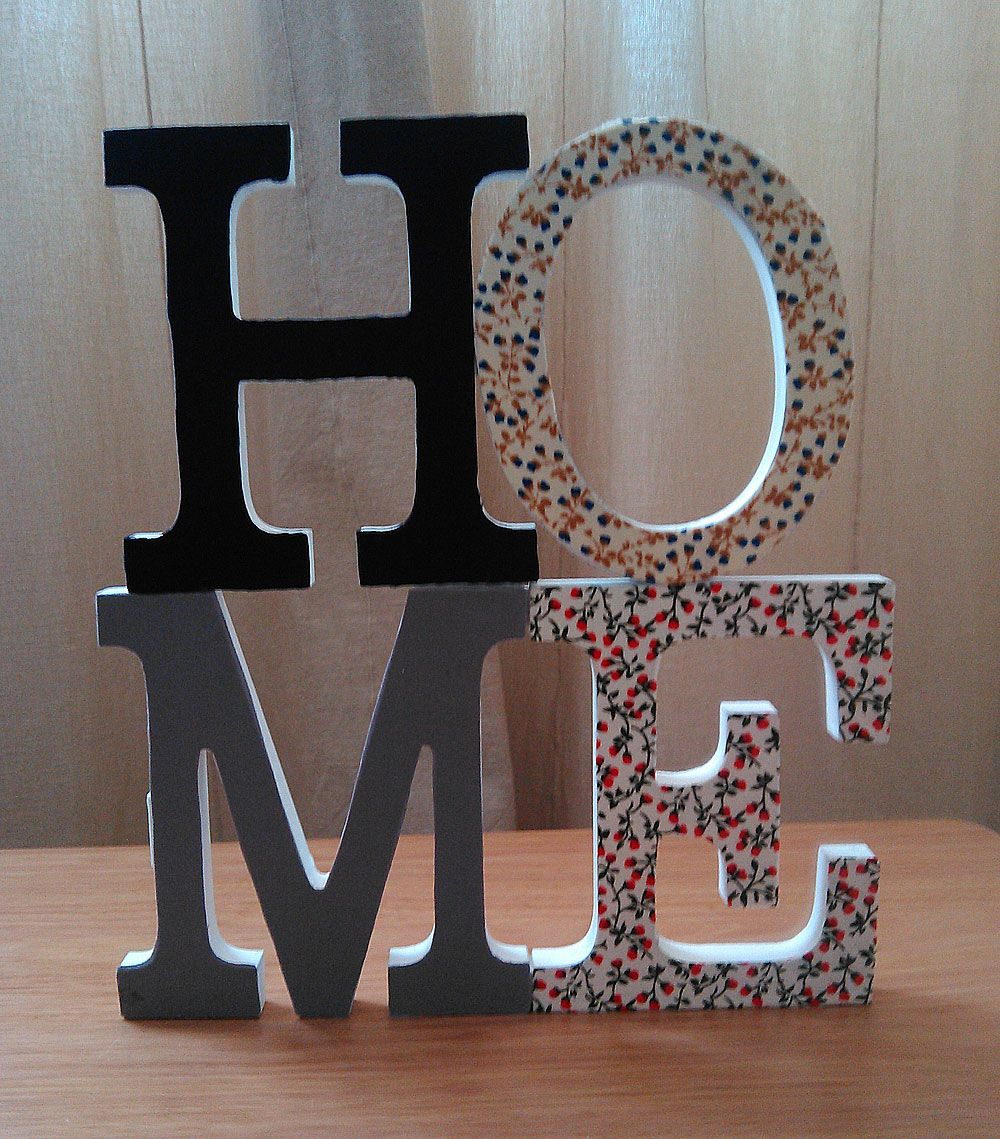 Ideas Para Decorar Letras De Madera Letras-madera-home-decora | Mis Crafts & Diy | Letras De