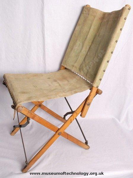 vintage furniture folding chair campaign furniture chair rh pinterest com