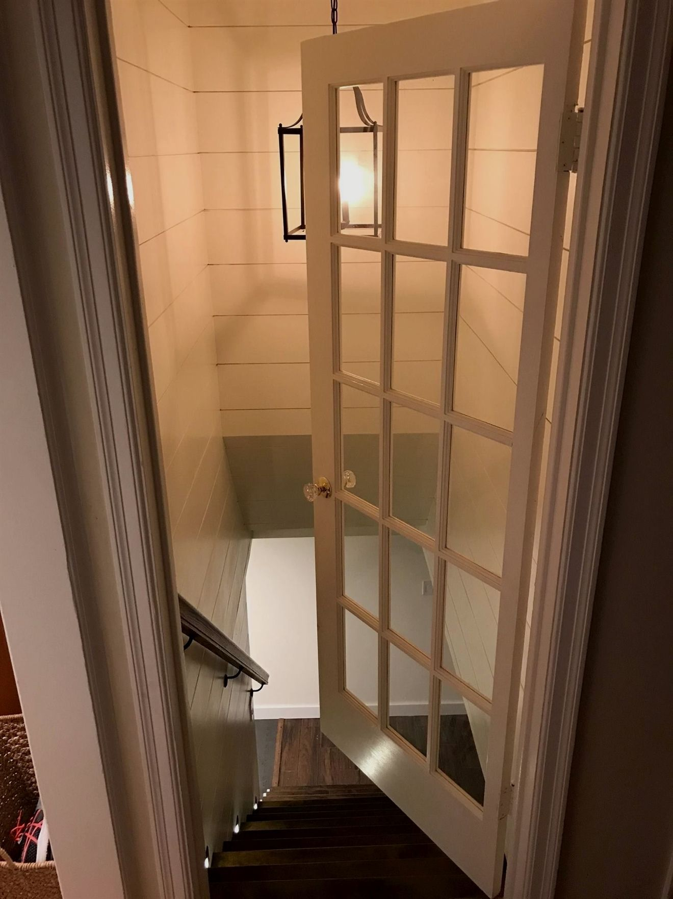 add a french door on a basement safety and energy basementbars rh pinterest com