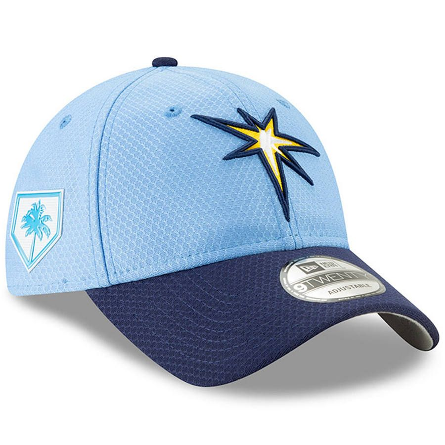 timeless design a32a6 dc3de Men s Tampa Bay Rays New Era Light Blue Navy 2019 Spring Training Alternate 9TWENTY  Adjustable Hat, Your Price   29.99