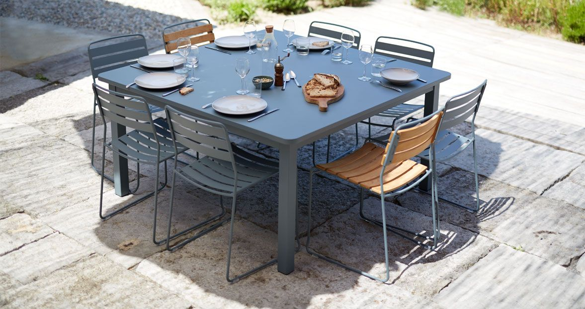 table de jardin, table metal, chaise metal, chaise fermob, chaise ...